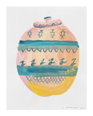 Francis Upritchard, 'Teal Motive with Yellow Pot', 2018