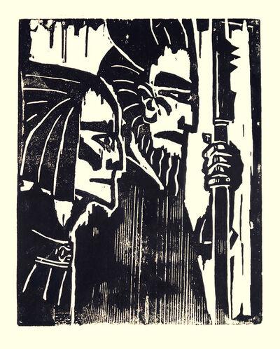 Emil Nolde, ' Ziehende Krieger', 1917