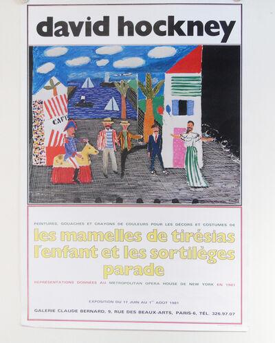David Hockney, 'LES MAMELLES DE TIRESIAS L'ENFANT ET LES SORTILEGES RARE', 1981