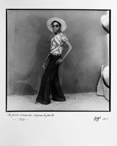 Ambroise Ngaimoko, 'Un jeune homme au chapeau de paille', 1972