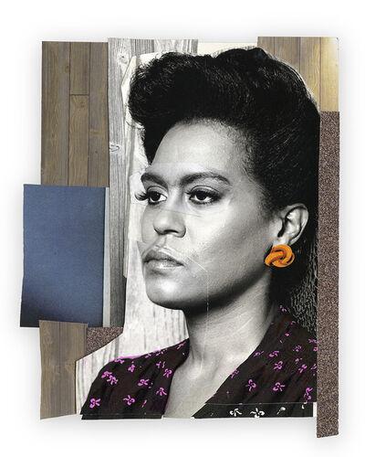 Mickalene Thomas, 'Clarivel with Orange Earring', 2015