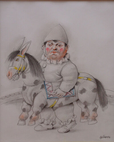 Fernando Botero, 'Payaso con caballo', 2006