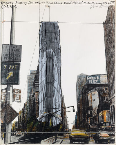 Christo, 'Wrapped Building Project for 1 Times Square NY', 1985