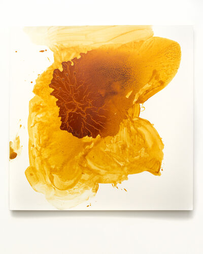 Vincent Tiley, 'Indian Yellow Study no. 9 (A Shoe, A Brick, A Shot Glass)', 2018