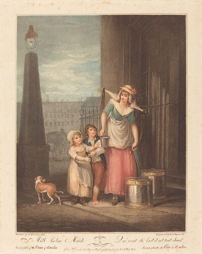 Luigi Schiavonetti after Francis Wheatley, 'Milk below Maids', 1793