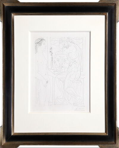 Pablo Picasso, 'Nude Model and Sculptures from the Vollard Suite', 1933