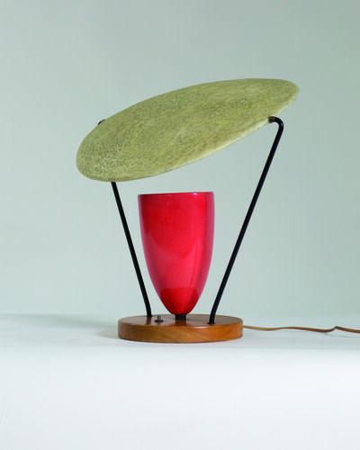 Mitchell Bobrick, 'Ceramic table lamp with epoxy shade', vers 1950