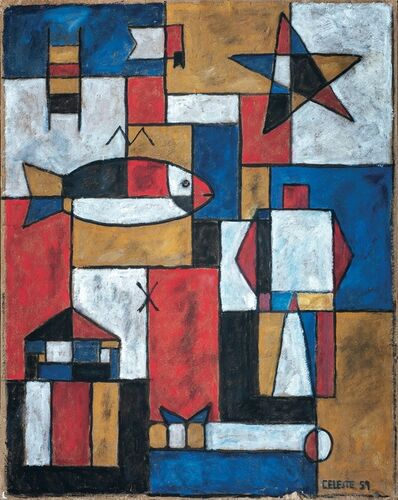 Celeste Núñez, 'Constructivo colores primarios', 1959