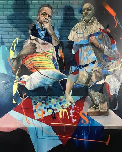 Joram Roukes, 'Stalemate at the Game Room', 2019