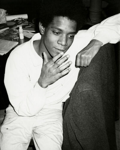 Andy Warhol, 'Andy Warhol, Photograph of Jean-Michel Basquiat circa 1984', ca. 1984