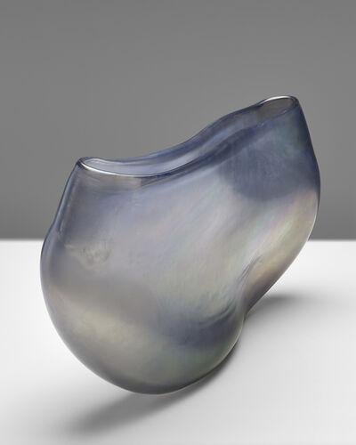 Massimo Micheluzzi, 'vaso vetro piatto grigio', 2015