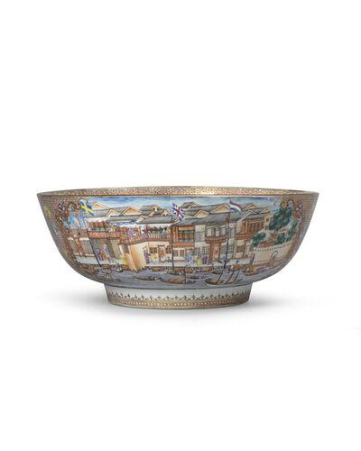 Porcelain, ''Hong' Punch Bowl', 1736-1795