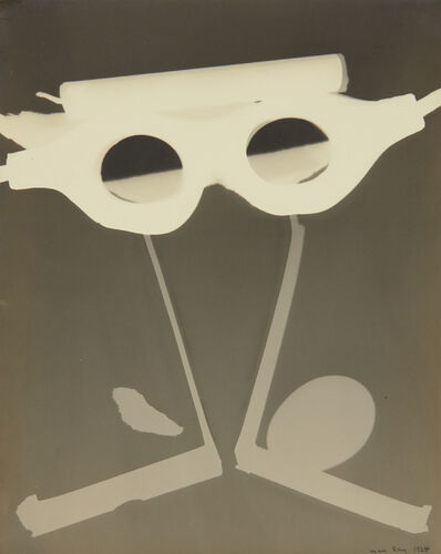 Man Ray, 'Rayograph with Goggles, Egg and Candle', 1924