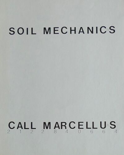 Richard Prince, 'Soil Mechanics', 1978
