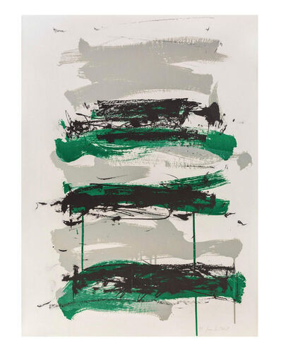 Joan Mitchell, 'Champs (Black, Gray and Green)'