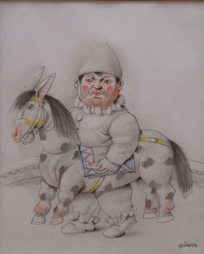 Fernando Botero, 'Clown with horse', 2007