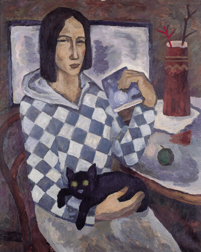 Vadim Semenovich Velichko, 'A black cat', 1988
