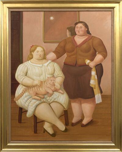 Fernando Botero, 'Dos Hermanas', 2018