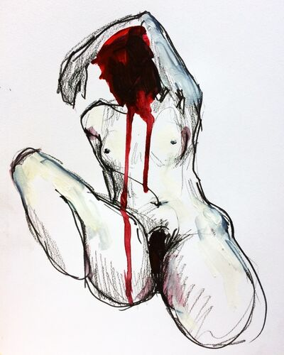 Elly Smallwood, 'Figure study (Red)', 2016