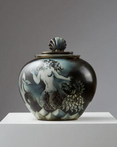 Gunnar Nylund, 'Lidded urn Flambé', ca. 1940