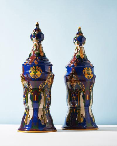 T.A.C. Colenbrander, 'Earthly Delights Vase Pair', 1921