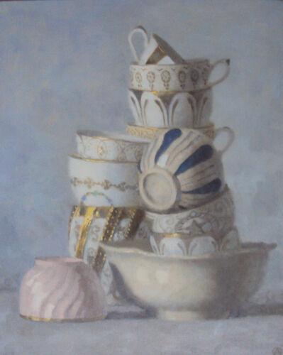 Olga Antonova, 'Composition on Cups on Blue', 2016