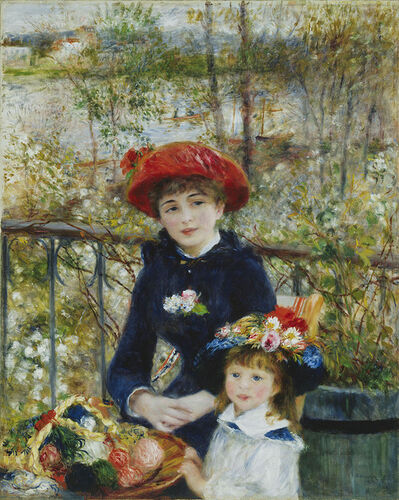 Pierre-Auguste Renoir, 'Two Sisters (On the Terrace)', 1881