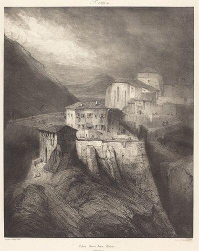 Eugène Isabey, 'Eglise Saint-Jean, Thiers', 1831