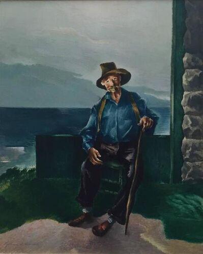 William S. Schwartz, 'Portrait of an Old Man with Cane', Mid-20th Century