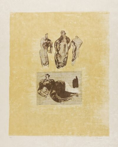 Henry Moore, 'Ideas from a Sketchbook (Cramer 324)', 1973-75