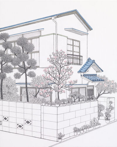 Yukiko Suto, 'Home - Pink Flowering Dogwood, Ookayama (家 - ピンク色の花水木, 大岡山 )', 2015