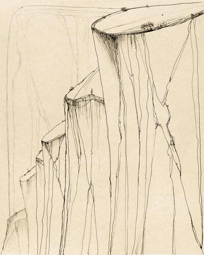 Wayne Thiebaud, 'Canyon Mountains', 2014