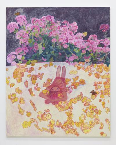 Makiko Kudo, 'Floral patterned futon', 2015