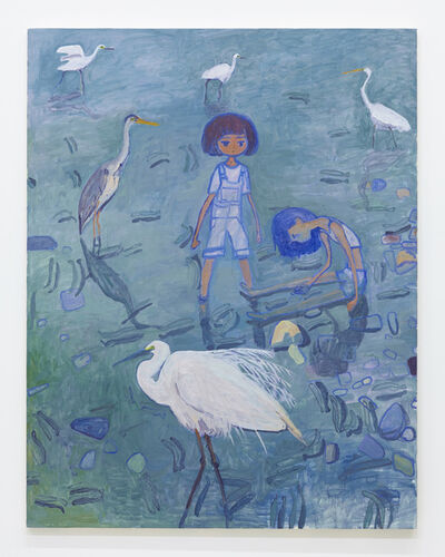 Makiko Kudo, 'Many kinds of herons', 2015