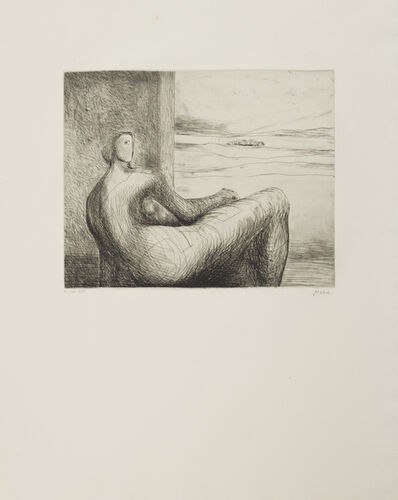 Henry Moore, 'Reclining Figure 1'