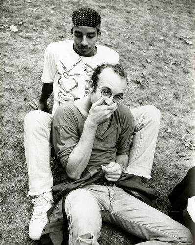 Andy Warhol, 'Andy Warhol, Photograph of Keith Haring & Juan Rivera in the Park, 1986', 1986