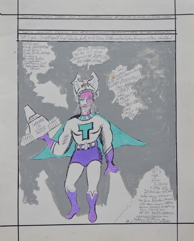 "Royal Robertson, 'Super Hero ""T""', 1990-1992"