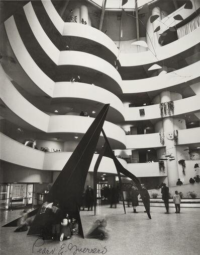 "Pedro E. Guerrero, 'Calder Retrospective at the Guggenheim with ""Guillotine pour huit""', 1964"