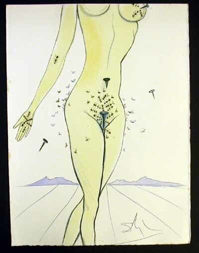 Salvador Dalí, 'Casanova - Ants, Nails & Flies On Nude', 1967