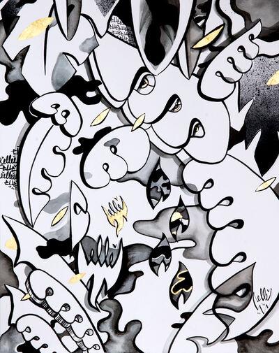 Elle, 'Black and Gold Shapes'