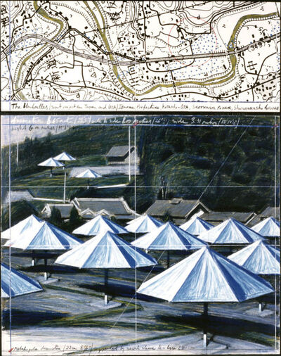 Christo, 'Umbrellas (joint project for japan and USA) ', 1988