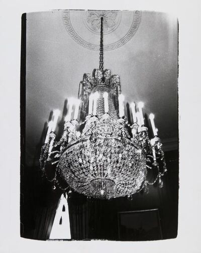 Andy Warhol, 'Andy Warhol, Photograph of a Chandelier in Paris, 1980', 1980