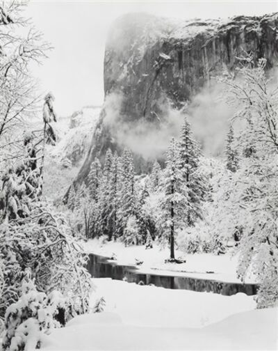 Ansel Adams, 'El Capitan, Yosemite Valley, CA, Winter', 1950
