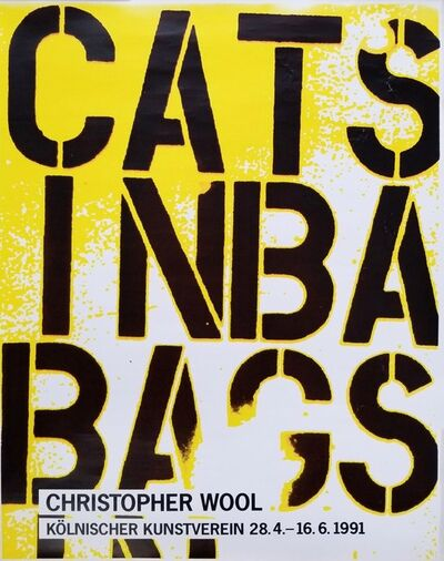Christopher Wool, 'Kölnischer Kunstverein (Cats in Bags, Bags in River)', 1991