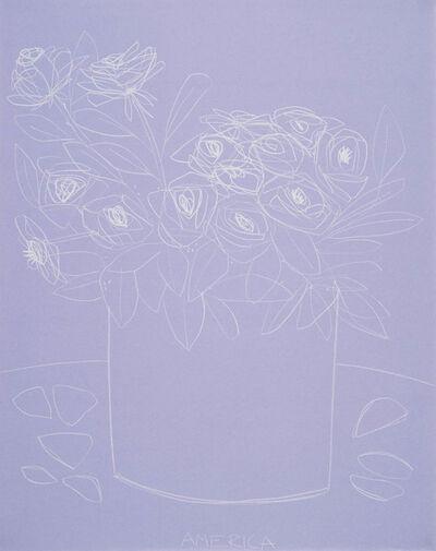 America Martin, 'Roses on Violet Paper', 2018