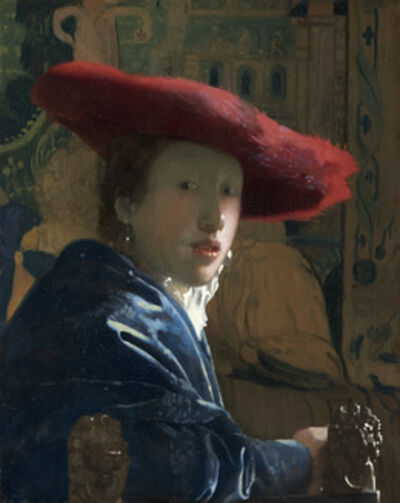 Johannes Vermeer, 'Girl with the Red Hat', ca. 1665/1666