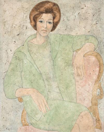 Louay Kayali, 'Portrait of Clarisse B. Kampel', 1960