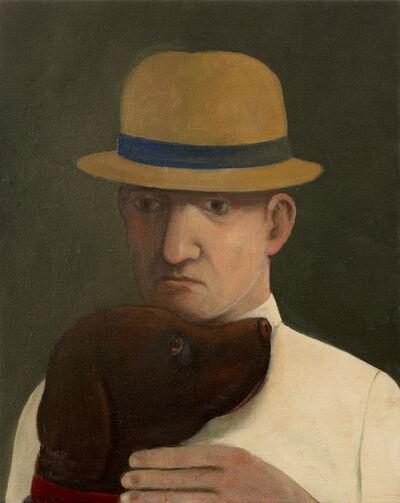 John Kirby, 'Man With a Brown dog', 2016