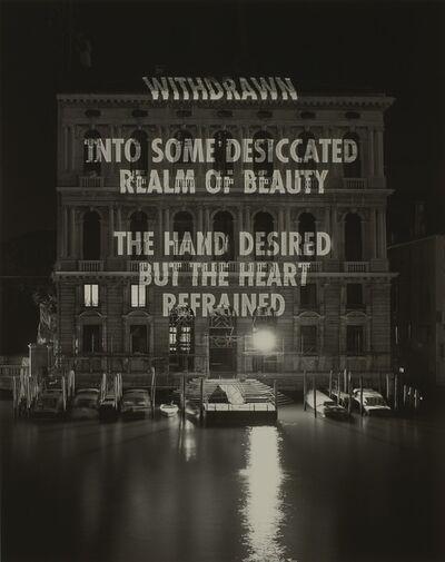 Jenny Holzer, 'The hand desired…', 2004