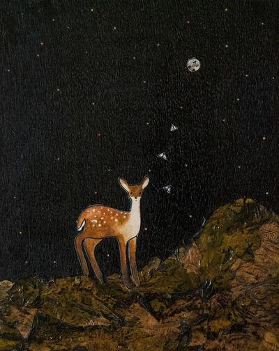 Ashley Anne Clark, 'Deer with Moths', 2018
